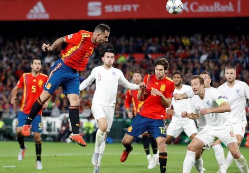 فوتبال دنیا، انگلیس با پیروزی به روند خوب اسپانیا سرانجام داد