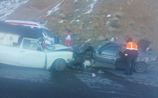 تصادف در محور مریوان سه کشته و زخمی برجای گذاشت