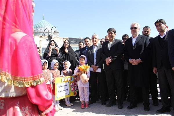 لوح ثبت جهانی یزد با حضور مونسان رونمایی شد
