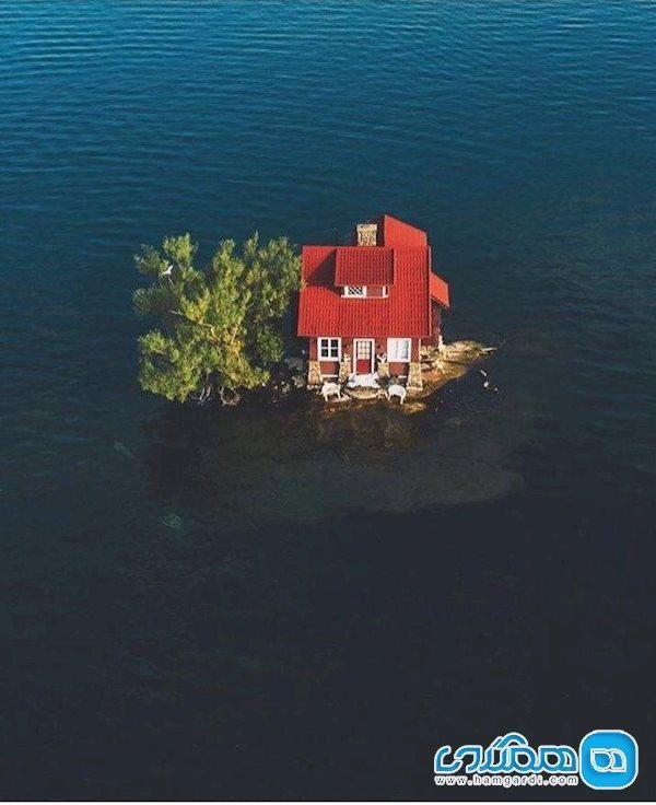 جزیره ای به اندازه یک خانه