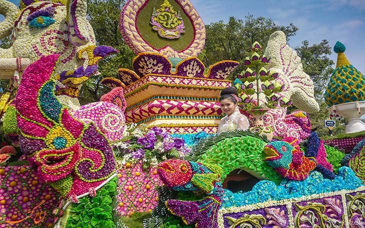 جشن گل در تایلند کی برگزار می گردد؟