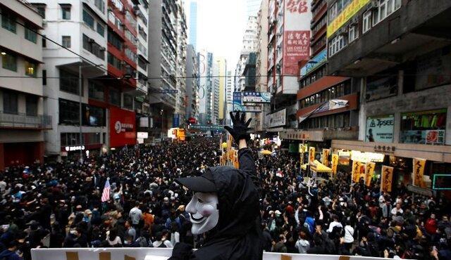 صدها معترض هنگ کنگی در اعتراضات سال نو بازداشت شدند