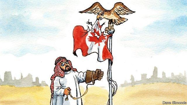 کنایه سنگین اکونومیست به عربستان؛ سعودی ها شورشیان کانادا را مسلح نمایند
