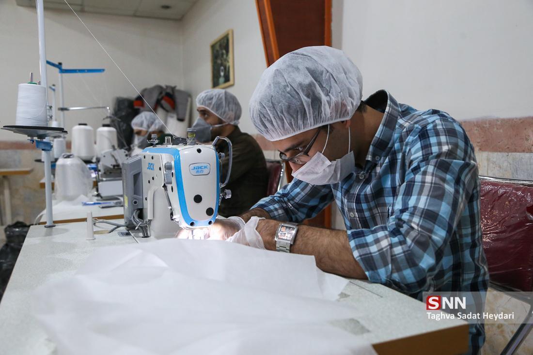 قرارگاه جهادی تعیین روزانه 4000 ماسک و لوازم بهداشتی فراوری می نماید