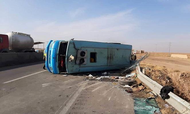 حادثه دلخراش برای 20 مسافر مینی بوس سوار