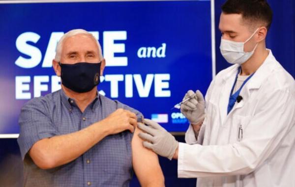 معاون ترامپ واکسن کرونا دریافت کرد