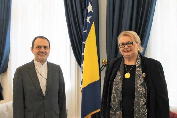 تاکید وزیر خارجه بوسنی و هرزگوین بر توسعه مناسبات تجاری با ایران