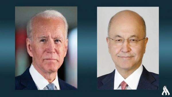 تبریک رئیس جمهور عراق به مناسبت تحلیف جو بایدن