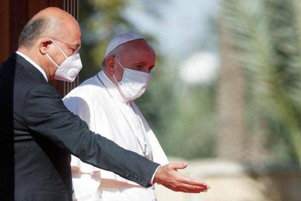 برهم صالح با پاپ فرانسیس ملاقات کرد، تاکید بر نابودی تروریسم خبرنگاران