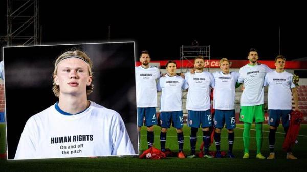 پیام حقوق بشری نروژ قبل از شروع انتخابی جام جهانی فوتبال