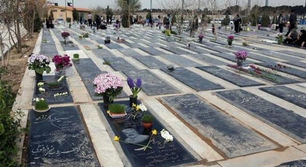 شرایط بهشت زهرای تهران در روز اول اردیبهشت 1400