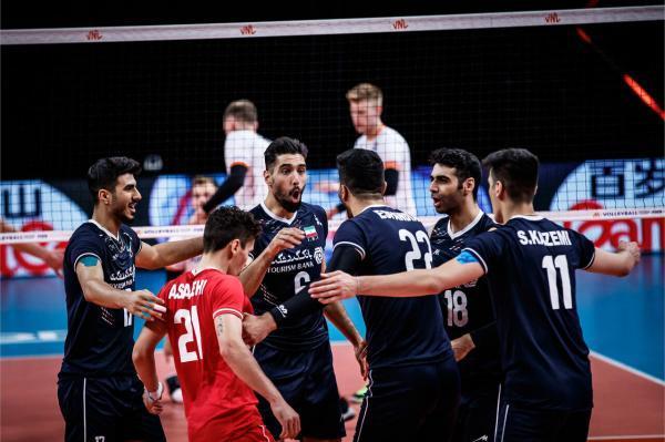 پیروزی والیبال ایران ، دفاع و حمله بلندقامتان ایران برتر از تیم ملی هلند
