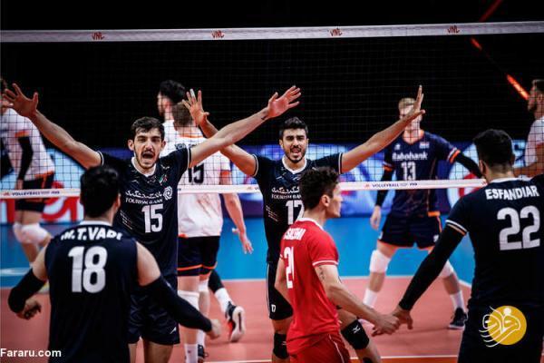 ترکیب والیبال ایران مقابل صربستان