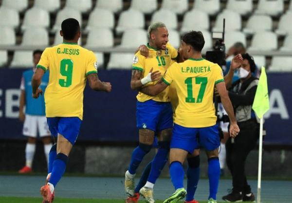 کوپا آمه ریکا 2021، برزیل 10 نفره با حذف شیلی حریف پرو در نیمه نهایی شد